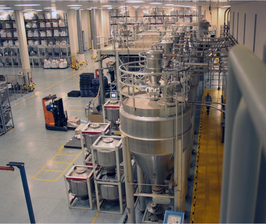 Część hali produkcyjnej, gdzie przygotowywane są mieszanki herbat.