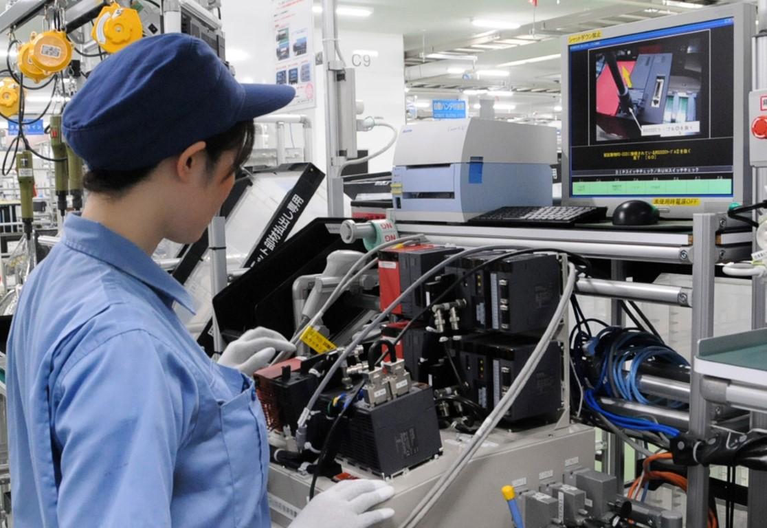 Produkcja i montaż sterowników PLC, HMI i innych produktów automatyki w Nagoi.